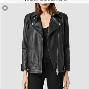 All saints Black Ryder Leather bike jacket
